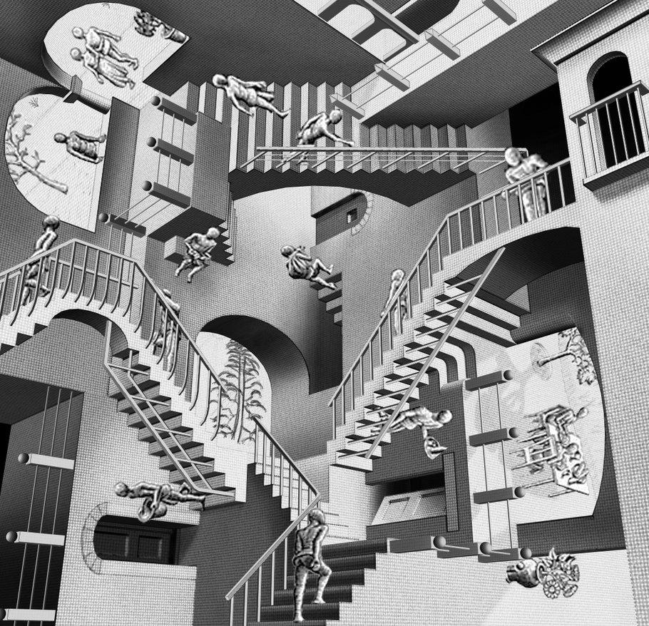 Resultado de imagem para a escada do desejo e do medo