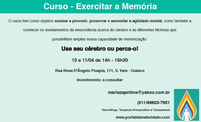 Exercitar a memoria - Maturidade - 1